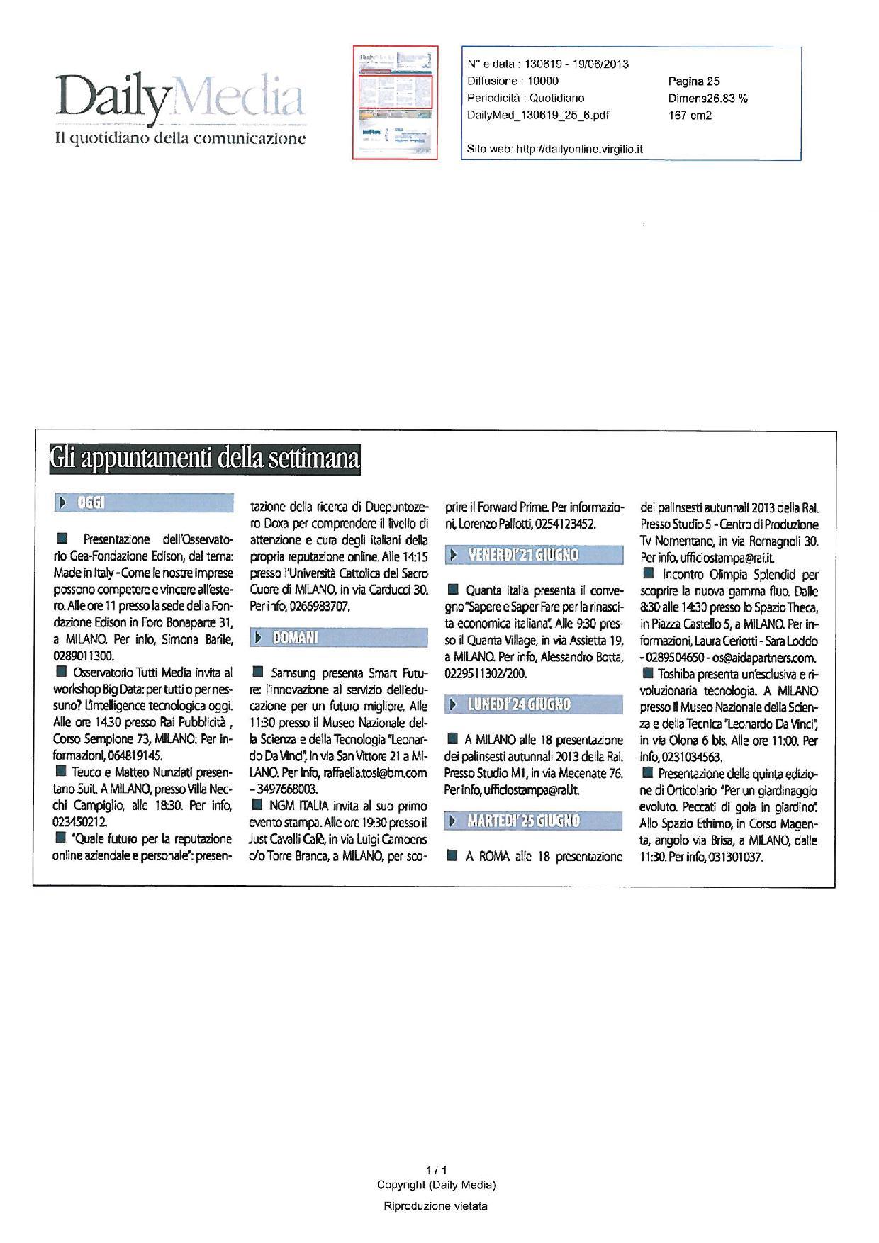 19.06.2013 DailyMedia